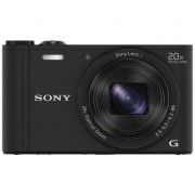 Aparat foto digital Sony Cyber-Shot DSC-WX350, 18 MP, Wi-Fi, Black