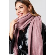 NA-KD Accessories Woven Pinstripe Scarf - Sjalar - Pink