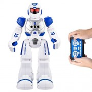Remote Control Robots For Kids - AOSENMA RC Robots With LED Lights,Infrared Control Toys Robot,Singing,Dancing,Speaking,Two Walking Models,Senses Gesture,Gesture Sensing Robots, Blue