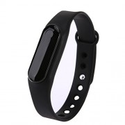 Rrimin C6 Bluetooth 4.0 Smart Wristband Bracelet with Heart Rate Monitor (Black)