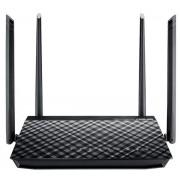 Router Wireless ASUS RT-AC57U, Gigabit, Dual Band, 1200 Mbps, 4 Antene externe (Negru)