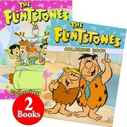 The Flintstones Coloring and Activity Book Set (2 Books ~ 96 Pages)