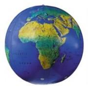 Opblaasbare wereldbol Aarde Natuurkundig (XL)   World Globes