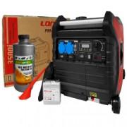 Pachet generator electric Profesional Loncin LC 3500i portabil 3.5 kW 7 CP inverter monofazat + 1l ulei motor AgroPro