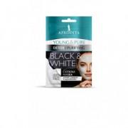 AFRODITA maska black & white YOUNG&PURE 2x5ml