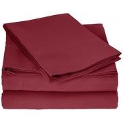 Truly Soft Everyday Truly Soft Juego de sábanas para Uso Diario, Color Azul Claro, tamaño King, Borgoña, Burgundy, Individual Extra Grande
