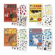 Farm, Zoo, Cat, Dog, Wild Animals Stickers 4 Sticker Activity Books 280 Stickers w/ Amazing Animal F