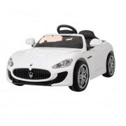 Masinuta electrica cu telecomanda 2,4 Ghz si roti eva Maserati White