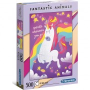 Puzzle Clementoni Fantastic Animals: Unicorn, 500 piese