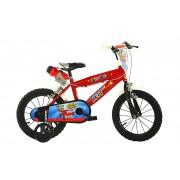 Bicicleta pentru baieti Super Wings, 14 inch, maxim 50 kg, 4 ani+