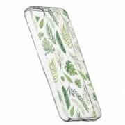 Husa Silicon Transparent Slim Frunze Apple iPhone 5 5S SE