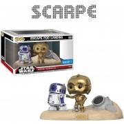 Funko Pop Star Wars R2-d2 & C-3po Escape Poo Landing Moments
