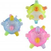 3 PCS Gracioso Flashing Bouncing Ball LED Luz Bailando Música Juguetes De La Bola, Color Al Azar Entrega