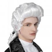 Merkloos Witte heren pruik barok