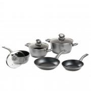 Cook's Essentials Set 8 pezzi: 3 pentole, 2 padelle e 3 coperchi