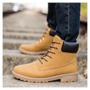 Botas Hombre Martin Alto Zapatos De Los Hombres Al Aire Libre -Amarillo