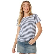 Silent Theory Polly Stripe Tee Ink White Ink White