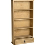 Corona 1 Drawer DVD Rack in Distressed Waxed Pine
