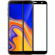 Folie de protectie Samsung Galaxy J4 Plus 2018 / Samsung Galaxy J6 Plus 2018 Folie sticla securizata 3D Negru FULL SCREEN Tempered Glass