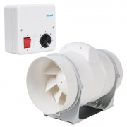 Pachet Promo: Ventilator ELICENT AXM 200 de tubulatura + Regulator de viteza Elicent RVS