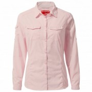 Craghoppers - Women's Nosilife Adventure L/S Shirt - Chemisier taille 8, gris/blanc