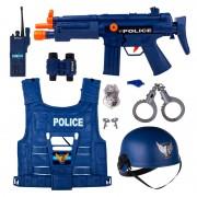 Set arma si accesorii politie World Police, 8 piese