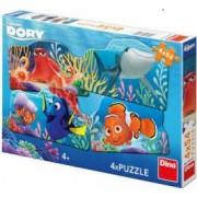 Puzzle 4 in 1 Dino Toys In cautarea lui Dory 54 piese Multicolor