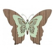 Merkloos 1x Tuin vlinders bruin/mintgroen 28 cm