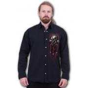 košile pánská s dlouhým rukávem SPIRAL - SOUL RIDER - Black - T169M610