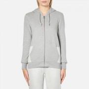 Converse Women's All Star Metallic Full Zip Hoody - Vintage Grey Heather - XS - Grey