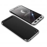 GKK 360 Protection telefon tok hátlap tok Első és hátsó tok telefon tok hátlap az egész testet fedő Xiaomi redmi 5A fekete-ezüst