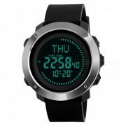 Reloj deportivo digital para hombre SKMEI 1293 50M impermeable con brujula - negro