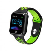 S226 1.3-inch IPS Color Screen Real-time Heart Rate Monitor Health Reminder Bluetooth 4.0 Smart Bracelet - Black / Green