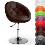 Cadeira de Bar Cocktail c/ Rotação de 360° e Altura Ajustável