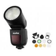 GODOX Kit Flash Speedlite V1 + Acessórios para Nikon