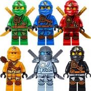 LEGO NinjagoTM: Ninja's set of 6 - Lloyd, Skylor, Zane, Cole, Jay, Kai Zukin Minifigures