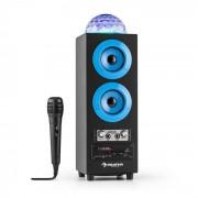 Auna DiscoStar Azul Portátil 2.1 Altavoz con Bluetooth USB SD Batería LED Micrófono (CS6-Discostar Blue)