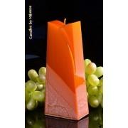 Candles by Milanne Adele Kaars, KOPER METALLIC, hoogte: 19cm - kaarsen