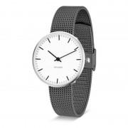 Arne Jacobsen Clocks Armbandsur City Hall Vit/matt grå 34 mm Arne Jacobsen Clocks