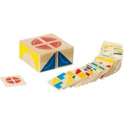 Joc logica Puzzle lemn Kubus, Goki, multicolor