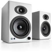 Audioengine A5+ powered speakers with Bluetooth (High Gloss White)
