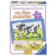 Puzzle Animale Prieteni, 3X6 Piese Ravensburger