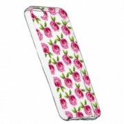 Husa Silicon Transparent Slim Flori Rose 107 Apple iPhone 5 5S SE