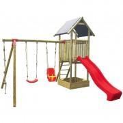 """Dětské hřiště na zahradu """"ANTONÍN"""" (věž, dvě houpačky, skluzavka)"""