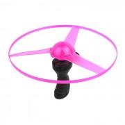 La luminiscencia juguete UFO w / Handle - color al azar