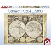 Puzzle Harta istorica a lumii, 2000 piese