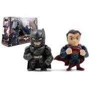 New Batman V Superman Movie Merchandise - 4 Metal DieCast (Die-Cast) BATMAN V SUPERMAN TWIN PACK Action Figures By Jada Toys Set of 2 Figures