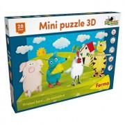 Mini Puzzle 3D Ferma, 28 piese