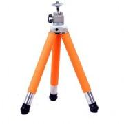American Sia Foldable 5 Section Orange Desk Tripod Stand for Micro Projection Smartphone Small Digital Cameras