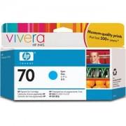 HP 70 130 ml Cyan Ink Cartridge with Vivera Ink, HP Designjet Z2100, Z3100 - C9452A